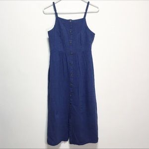 Old Navy Midi Blue Chambray Button Down Dress